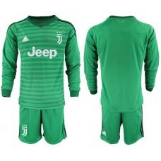 Men 2019-2020 club Juventus green long sleeve goalkeeper Soccer Jerseys