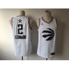Men Toronto Raptors 2 Leonard white 2019 All Star NBA Jerseys