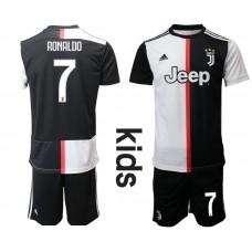 Youth 2019-2020 club Juventus FC home 7 black Soccer Jerseys