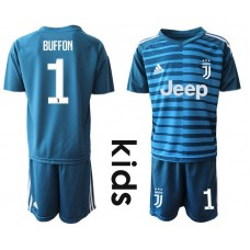 Youth 2019-2020 club Juventus blue goalkeeper 1 Soccer Jerseys1