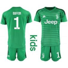 Youth 2019-2020 club Juventus green goalkeeper 1 Soccer Jerseys1