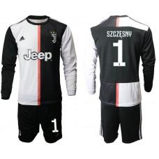 Men 2019-2020 club Juventus home long sleeves 1 black Soccer Jerseys1