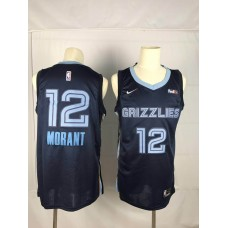 Men Memphis Grizzlies 12 Morant Blue Nike NBA Jerseys