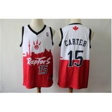 Men Toronto Raptors 15 Carter white red city editon NBA Jerseys