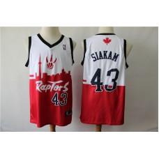 Men Toronto Raptors 43 Siakam white red city editon NBA Jerseys