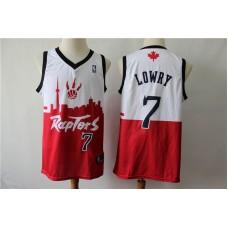 Men Toronto Raptors 7 Lowry white red city editon NBA Jerseys