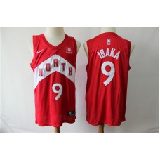 Men Toronto Raptors 9 Ibaka Red City Edition Nike NBA Jerseys