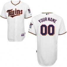 MLB Customize Minnesota Twins White Jerseys