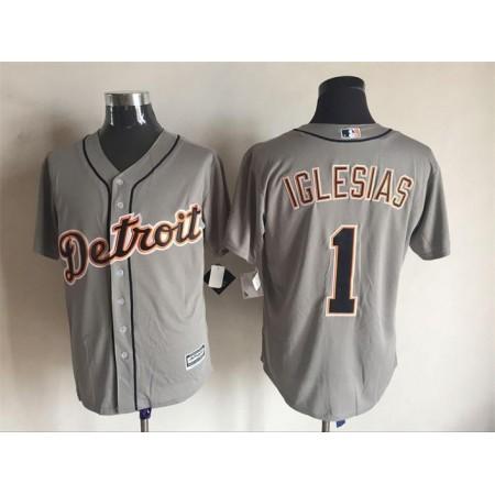 2016 MLB FLEXBASE Detroit Tigers 1 Iglesias grey jerseys