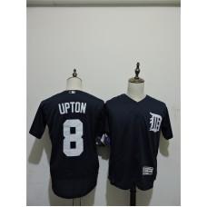 2016 MLB FLEXBASE Detroit Tigers 8 Upton Blue Elite Jerseys