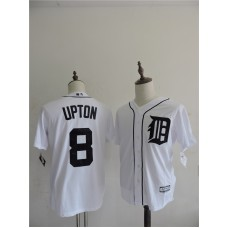 2016 MLB FLEXBASE Detroit Tigers 8 Upton White Jerseys