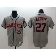 2016 MLB FLEXBASE Houston Astros 27 Altuve grey jerseys