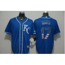 2016 MLB FLEXBASE Kansas City Royals 17 Davis blue jersey