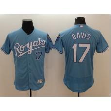2016 MLB FLEXBASE Kansas City Royals 17 Wade Davis Light blue Jerseys