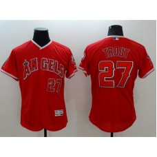 2016 MLB FLEXBASE Los Angeles Angels 27 Trout red jerseys