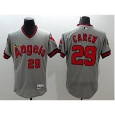 2016 MLB FLEXBASE Los Angeles Angels 29 Carew grey jerseys