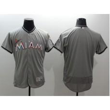 2016 MLB FLEXBASE Miami Marlins blank grey jerseys