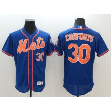 2016 MLB FLEXBASE New York Mets 30 Conforto Blue Jerseys