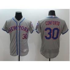 2016 MLB FLEXBASE New York Mets 30 Conforto Grey Jersey