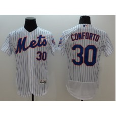 2016 MLB FLEXBASE New York Mets 30 Conforto White Jerseys
