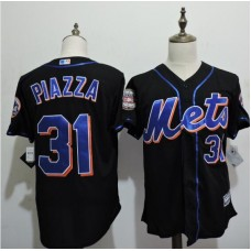 2016 MLB FLEXBASE New York Mets 31 Piazza Black Jerseys