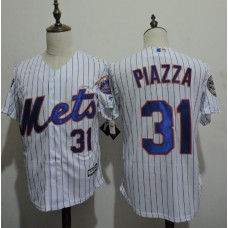 2016 MLB FLEXBASE New York Mets 31 Piazza stripe White Jerseys