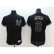 2016 MLB FLEXBASE New York Yankees 2 Derek Jeter black Jersey