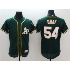 2016 MLB FLEXBASE Oakland Athletics 54 Gray Green Jersey