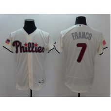 2016 MLB FLEXBASE Philadelphia Phillies 7 Franco Cream1 Fashion Jerseys
