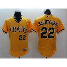2016 MLB FLEXBASE Pittsburgh Pirates 22 McCutchen yellow jerseys
