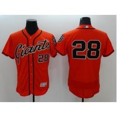 2016 MLB FLEXBASE San Francisco Giants 28 Buster Posey Orange Jerseys