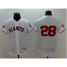 2016 MLB FLEXBASE San Francisco Giants 28 Buster Posey White Fashion Jerseys