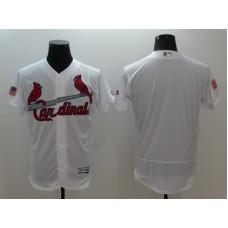 2016 MLB FLEXBASE St. Louis Cardinals Blank White Fashion Jerseys