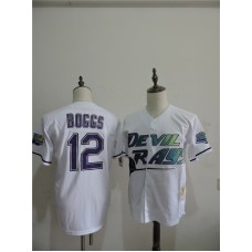 2016 MLB FLEXBASE Tampa Bay Rays 12 Boggs White Jerseys