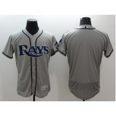 2016 MLB FLEXBASE Tampa Bay Rays blank grey jerseys