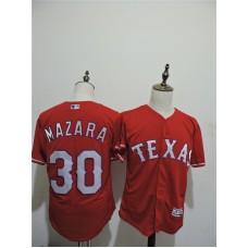 2016 MLB FLEXBASE Texas Rangers 30 Mazara Red Elite Jerseys