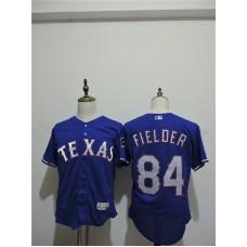 2016 MLB FLEXBASE Texas Rangers 84 Prince Fielder Blue Elite Jerseys