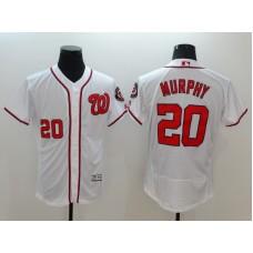 2016 MLB FLEXBASE Washington Nationals 20 Murphy White Jerseys