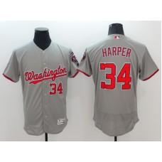 2016 MLB FLEXBASE Washington Nationals 34 Harper Grey Jerseys