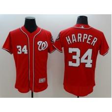 2016 MLB FLEXBASE Washington Nationals 34 Harper red jerseys