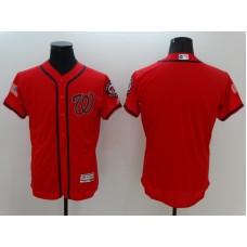 2016 MLB FLEXBASE Washington Nationals Blank Red Fashion Jerseys
