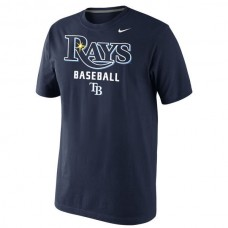 2016 MLB Tampa Bay Rays Nike Home Practice T-Shirt - Navy