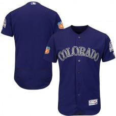 2017 MLB Colorado Rockies Blank Purple Jerseys