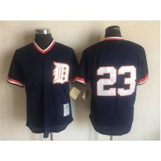2017 MLB Detroit Tigers 23 Kirk Gibson Blue Throwback Jerseys