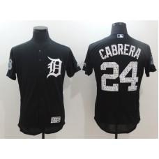 2017 MLB Detroit Tigers 24 Cabrera Black Jerseys