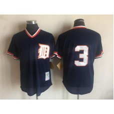 2017 MLB Detroit Tigers 3 Ian Kinsler Blue Throwback Jerseys