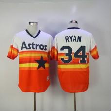 2017 MLB Houston Astros 34 Ryan Orange Elite Jerseys
