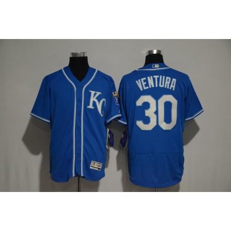 2017 MLB Kansas City Royals 30 Yordano Ventura Blue jerseys2