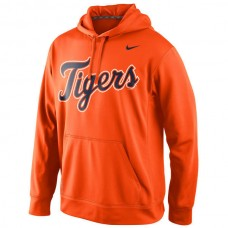MLB Detroit Tigers Nike Mens KO Wordmark Perfomance Hoodie - Orange