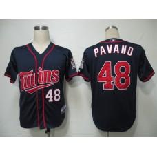 MLB Minnesota Twins 48 Pavano Blue Jerseys